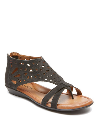 Rockport Cobb Hill Jordan Leather Dress Sandals-BLACK-11