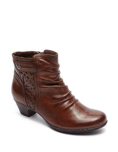 Rockport Cobb Hill Abilene Leather Booties-ALMOND-10