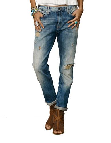 Denim & Supply Ralph Lauren Oceanside Distressed Boyfriend Jeans-OCEANSIDE-27 plus size,  plus size fashion plus size appare