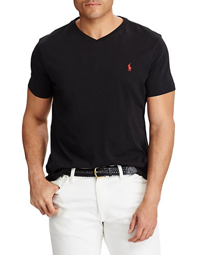 Polo Ralph Lauren Big and Tall Jersey V-Neck T-Shirt-RL BLACK-1X Tall