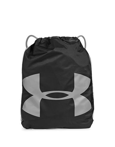 Under Armour Grab and Go Sackpack-BLACK-One Size