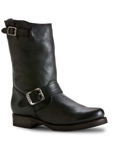 Frye Veronica Leather Mid-Calf Boots-BLACK-7.5