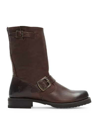 Frye Veronica Short Boots-BROWN-9