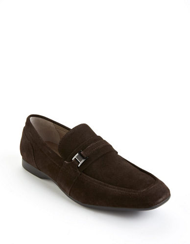 Calvin klein Sulie Suede Loafers dark brown 9