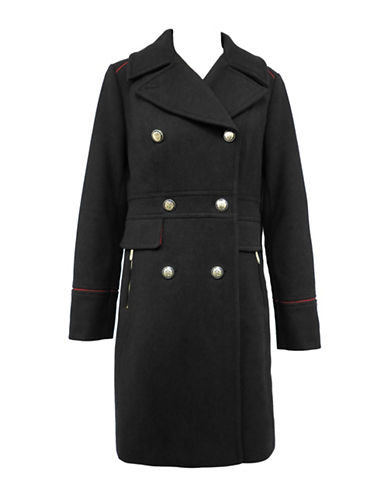 Vince Camuto The Coat Edit Double-Breasted Wool-Blend Coat-BLACK-Small 88346089_BLACK_Small