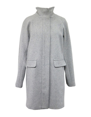 Vince Camuto Wool-Blend Twill Jacket-GREY-Small 88431349_GREY_Small
