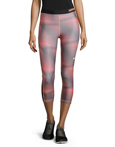 Nike Pro Cool Printed Capri Leggings-LAVA-X-Small 88952212_LAVA_X-Small