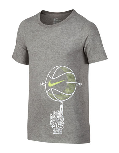 Nike Cotton T-Shirt-DARK GREY-6-8 88566997_DARK GREY_6-8