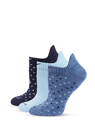 Nike Three-Pack Dri-FIT Ankle Socks-BLUE-Medium