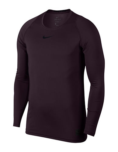 Nike Pro Fitted Long-Sleeve Tee-BLACK-XX-Large
