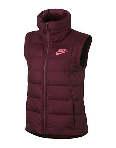 Nike Down Fill Vest-RED-Small