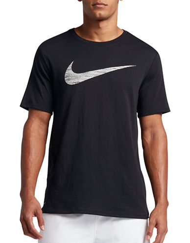 Nike Dry Swoosh Training Tee-BLACK-Medium