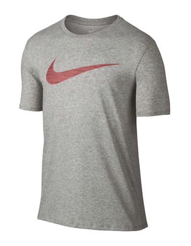 Nike Dry Swoosh Training Tee-DARK GREY-Small