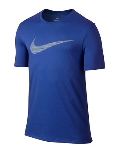 Nike Dry Swoosh Training Tee-ROYAL BLUE-Medium