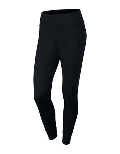 Nike Essential Leggings-BLACK-Large