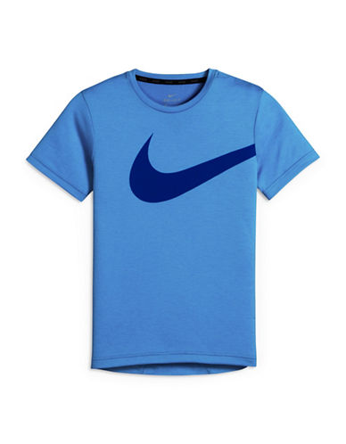 Nike Hyper G Logo T-Shirt-BLUE-Small