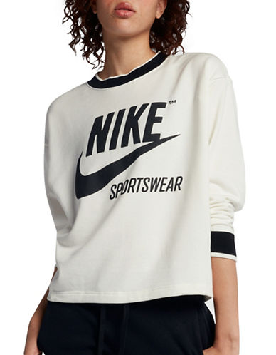 Nike Sportswear Crew Top-SAIL-Large
