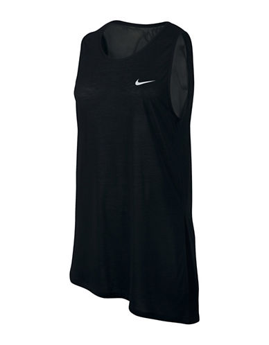 Nike Breathe Mesh Sleeveless Top-BLACK-X-Small