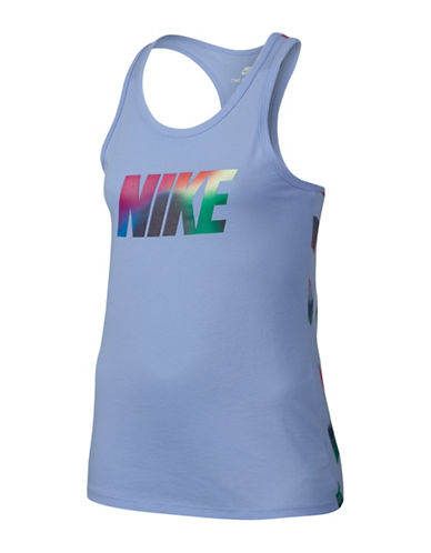 Nike Logo-Print Jersey Tank Top-BLUE-Small 89295336_BLUE_Small