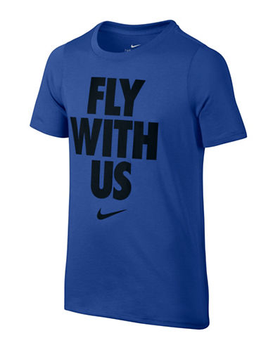 Nike Fly with Us Graphic T-Shirt-BLUE-X-Small 89089746_BLUE_X-Small