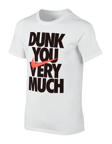 Nike Dunk You Graphic T-Shirt-WHITE-Small