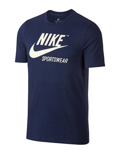 Nike Sportswear Cotton Tee-BLUE-Medium