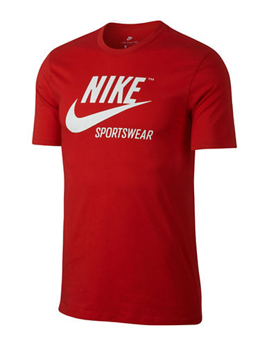 Nike Sportswear Cotton Tee-RED-Small