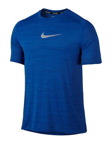 Nike Dry Miler Running Top-BLUE-X-Large