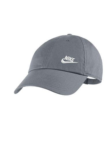 Nike Cotton Baseball Cap-GREY-One Size