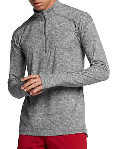Nike Dry Element Running Top-GREY-Medium