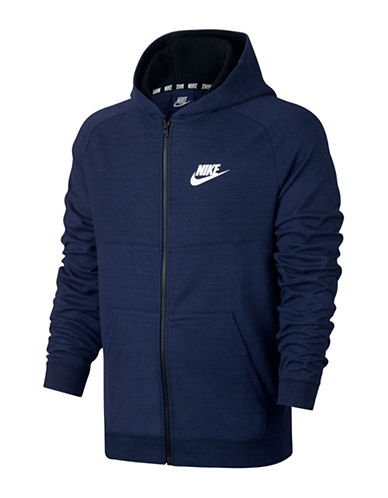 Nike Advance 15 Hoodie-BLUE-X-Large