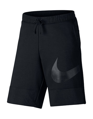 Nike Drawstring Shorts-BLACK-Large