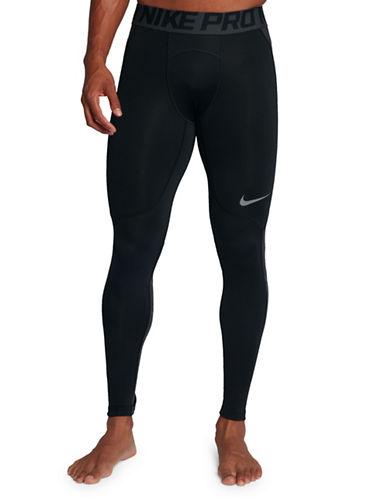 Nike Pro HyperWarm Tights-BLACK/GREY-X-Large