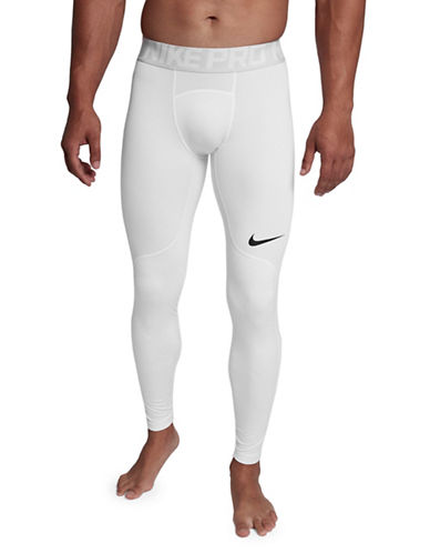 Nike Pro HyperWarm Tights-WHITE-Large