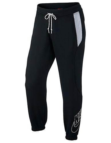 Nike Slim Cuffed Fleece Pants-BLACK-X-Large 87511862_BLACK_X-Large