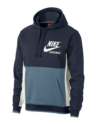 Nike Colourblock Hoodie-BLUE-X-Large 89710151_BLUE_X-Large