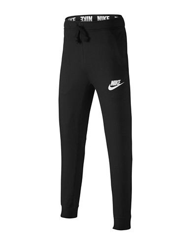 Nike Sporty Sweatpants-BLACK-Medium