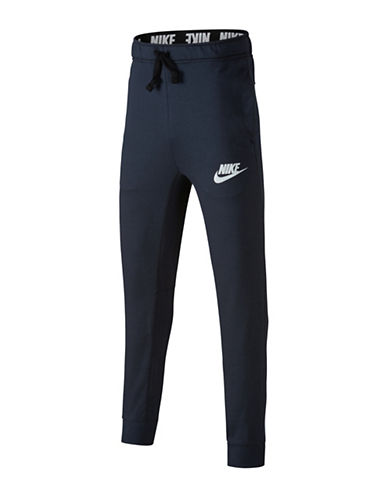 Nike Sporty Sweatpants-NAVY-Medium