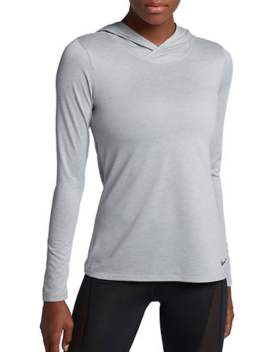 Nike Long Sleeve Hoodie-GREY-Small 89655646_GREY_Small