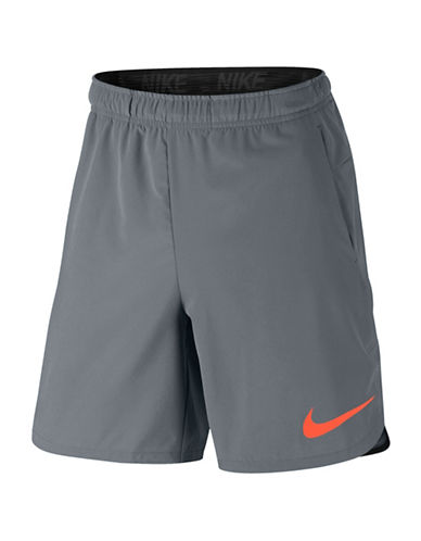 Nike Flex Training Shorts-GREY-X-Large