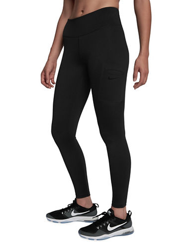 Nike Power Hyper Tights-BLACK-Large