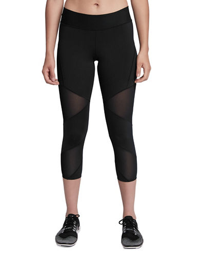 Nike Fly Lux Cropped Tights-BLACK-Medium