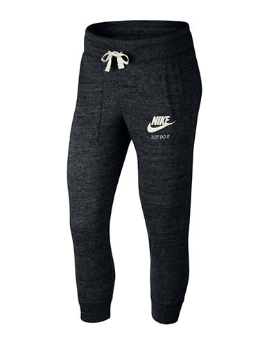 Nike Jersey Capri  Sweatpants-BLACK-Medium