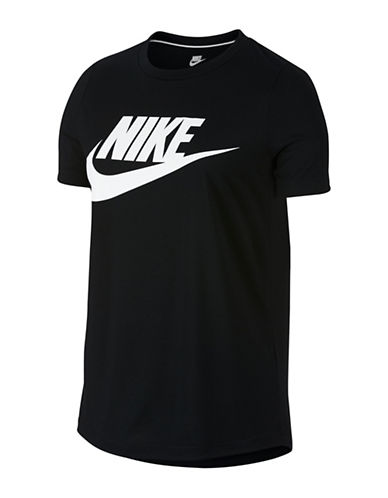 Nike Logo Essential Cotton T-Shirt-BLACK-X-Large