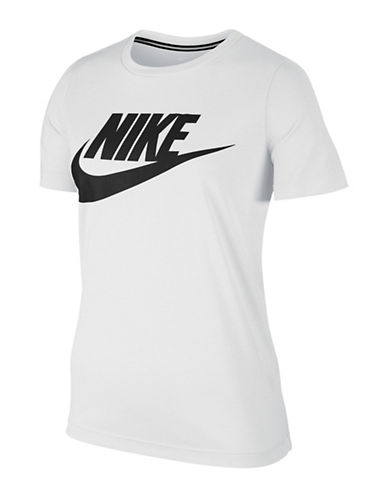 Nike Logo Essential Cotton T-Shirt-WHITE-Small 88952968_WHITE_Small