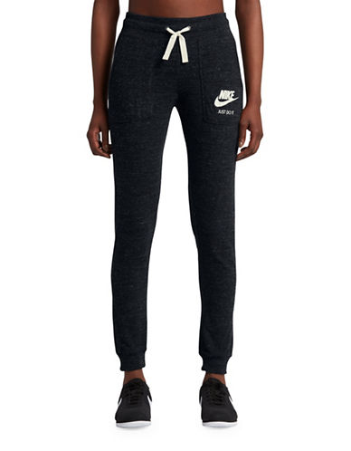 Nike Drawstring Jogger Pants-BLACK-Medium