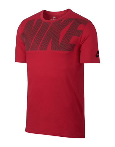 Nike Short Sleeve Cotton Tee-RED-X-Small 89692827_RED_X-Small