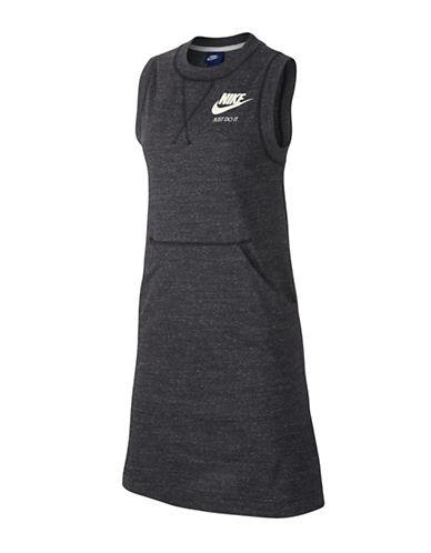Nike Sleeveless Crew Neck Dress-ANTHRACITE-X-Small