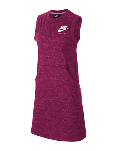 Nike Sleeveless Crew Neck Dress-SPORT FUSCHIA-Large