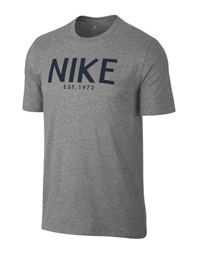 Nike Short Sleeve Cotton Tee-GREY-Medium 89692843_GREY_Medium